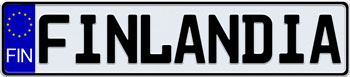 EEC Finland License Plate