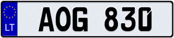 EEC Lithuania License Plate