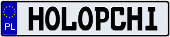 EEC Poland License Plate