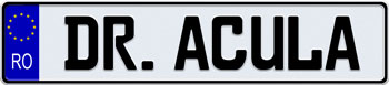 EEC Romania License Plate