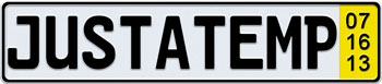 Temporary German License Plate