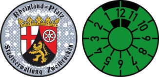 Rheinland Pfalz Registration Seal Set